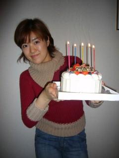 ケーキ♪d(<br />  ⌒〇⌒)b♪